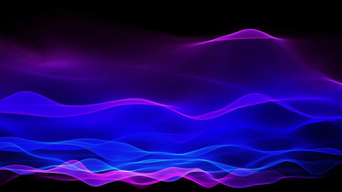 abstract soft wave background, blue waves motion Stock Video Footage