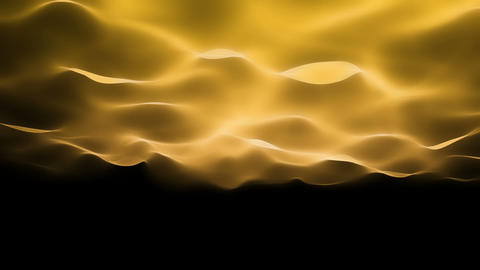 abstract soft wave background, gold waves motion Stock Video Footage