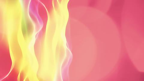 abstract red background, yellow waves motion flow Stock Video Footage