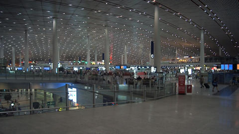 Beijing Capital International Airport interior Footage