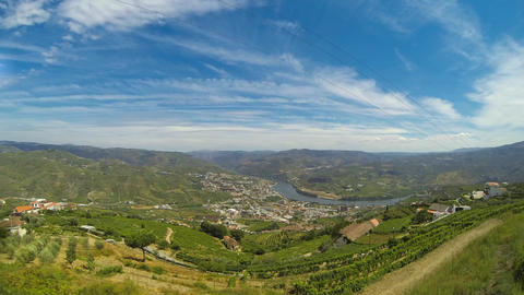Timelapse in Douro Valley Stock Video Footage