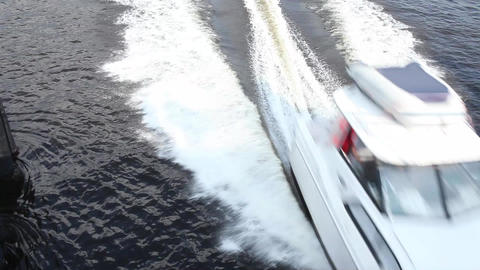 fast boats Stock Video Footage