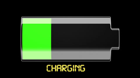 Battery Charging and Discharging with solid scale Stock Video Footage