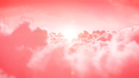 Heaven. Beautiful Flight over the rose clouds with Stock Video Footage