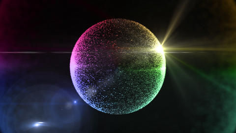 circle particle 3 Stock Video Footage