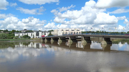 New Ross Bridge Co. Wexford Stock Video Footage