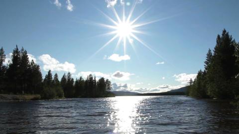 Sunny Lake Stock Video Footage