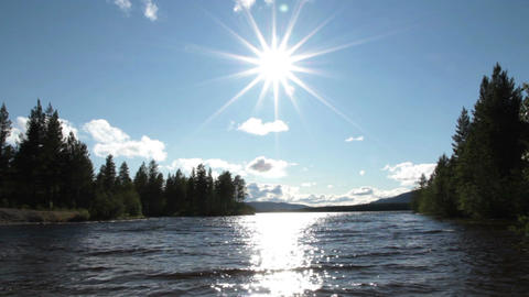 Sunny Lake Stock Video Footage