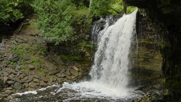 Hilton Falls Waterfall Full 00185 Stock Video Footage