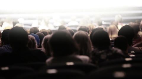Spectators at theatrical performance. Time lapse Stock Video Footage