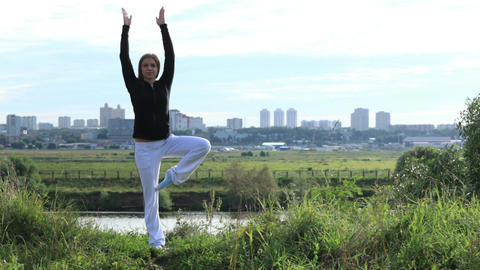 Asana pose 1 Stock Video Footage