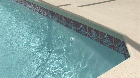 Corner of a pool Stock Video Footage