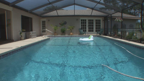 Pool home Stock Video Footage