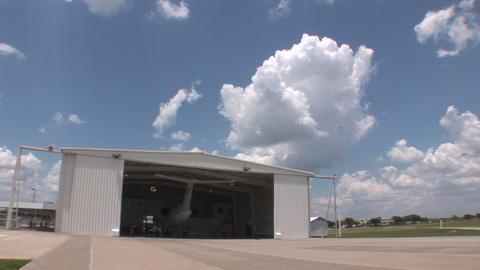 Plane in hangar Stock Video Footage