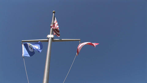 Flags Of US Florida And Kissimmee stock footage