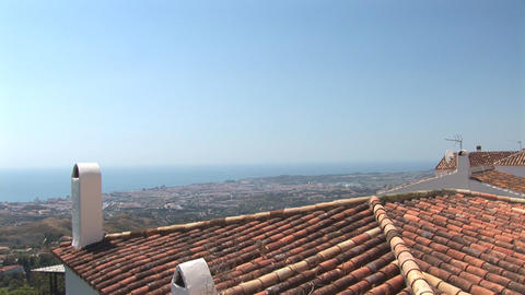 Fuengirola with rooftop Stock Video Footage