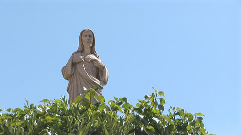 Catholic statue Stock Video Footage
