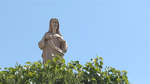 Catholic Statue stock footage