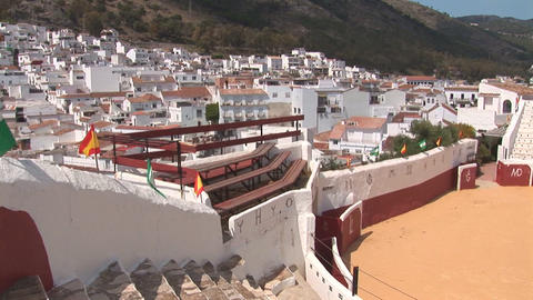 Mijas and bull fighting arena Footage
