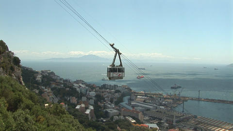 Cable car at Gibraltar Footage