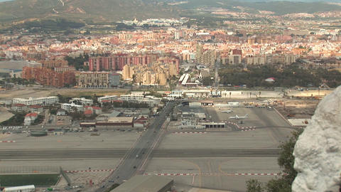 Airport and border crossing at Gibraltar Footage