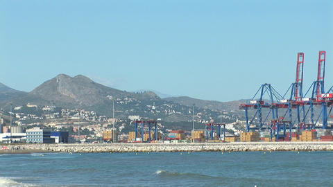 Harbor of Malaga, Spain Stock Video Footage