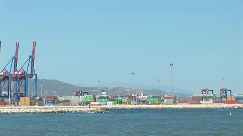 Harbor of Malaga, Spain Stock Video Footage