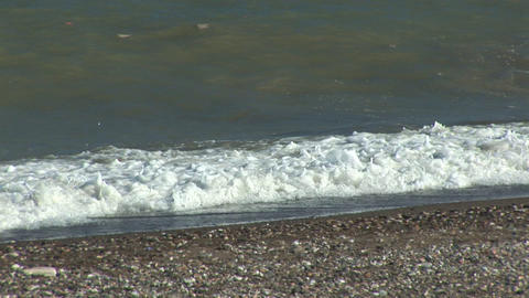 Waves on a beach Stock Video Footage