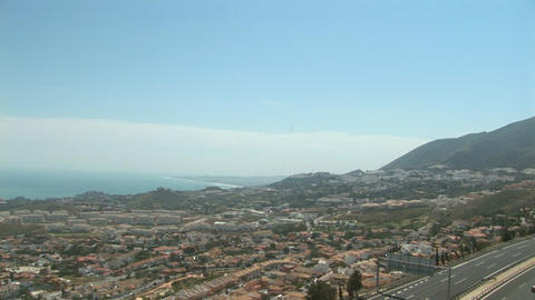 Cable car Benalmadena highway Stock Video Footage