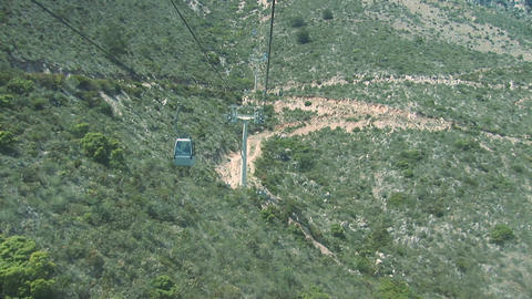 View from cable car Stock Video Footage