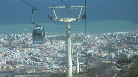 Cable car going down Stock Video Footage