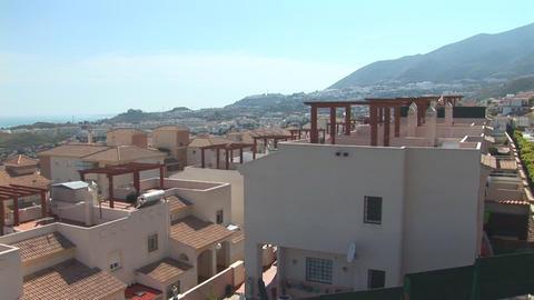 Flying over neighborhood in Spain Footage