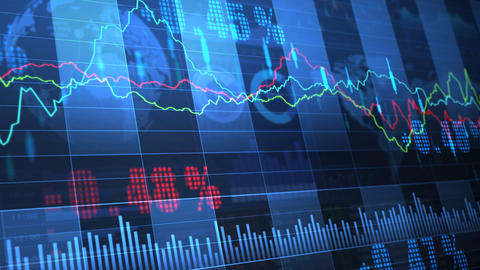 Stock Market trends 063 Stock Video Footage