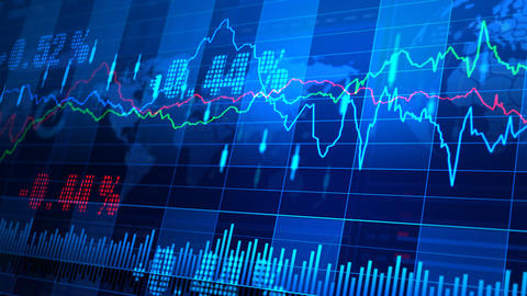 Stock Market trends 064 Stock Video Footage