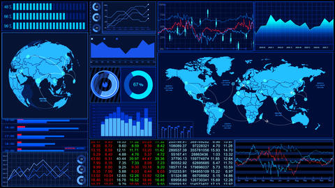 Stock Market Trends 060 stock footage