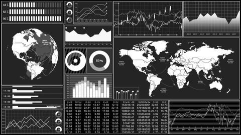 Stock market trends 060 Stock Video Footage