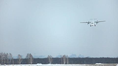ATR-42 Landing stock footage