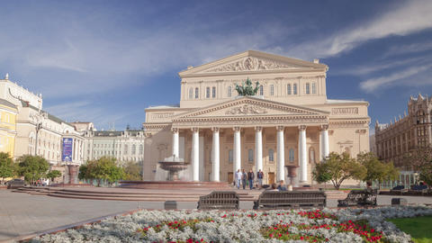 Bolshoi Theatre hyperlapse Stock Video Footage