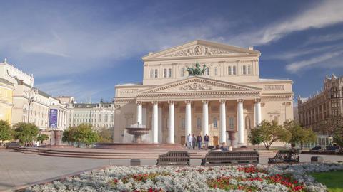 Bolshoi Theatre hyperlapse Footage