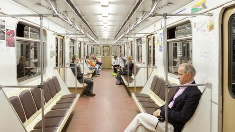 Metro train timelapse Stock Video Footage
