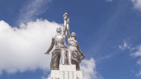 Worker and Kolkhoz Woman hyperlapse Footage