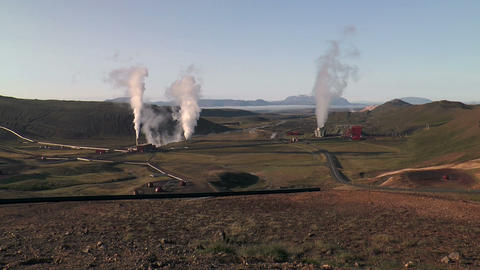 geothermal plant in iceland Stock Video Footage