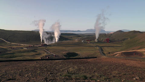 geothermal plant in iceland Footage