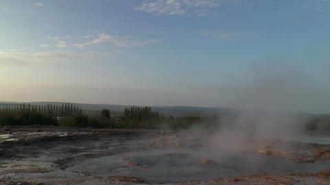 erupting geyser strokkur in iceland Stock Video Footage