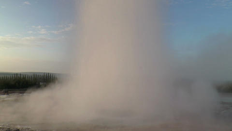 erupting geyser strokkur in iceland Stock Video Footage