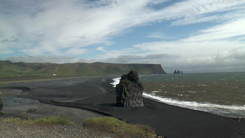 Idyllic Lava Coast In Iceland stock footage
