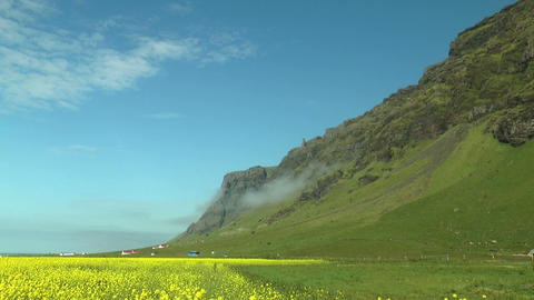colorful landscape in iceland Footage