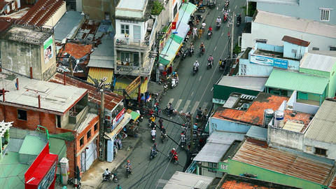 TRAFFIC IN VIETNAM - HO CHI MINH CITY - Time Lapse Stock Video Footage