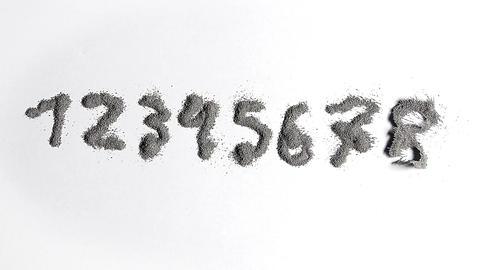 Metal powder countdown Stock Video Footage