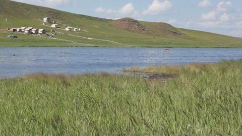 Khakassia Tus Lake 05 Stock Video Footage